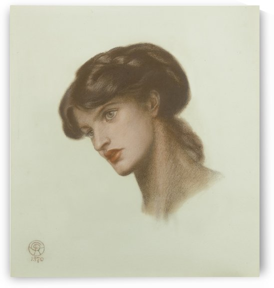 Study of young woman by Dante Gabriel Rossetti