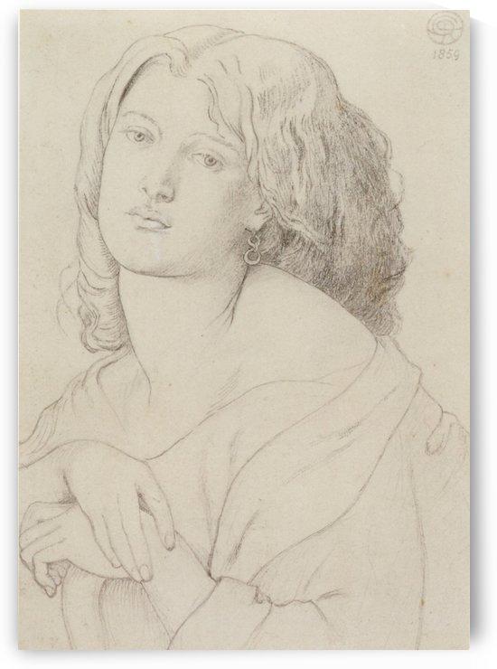 Fanny Cornforth graphite on paper 1859 by Dante Gabriel Rossetti