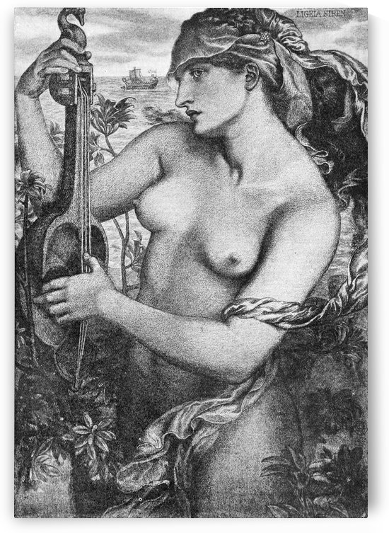 Ligeia Siren 1873 by Dante Gabriel Rossetti