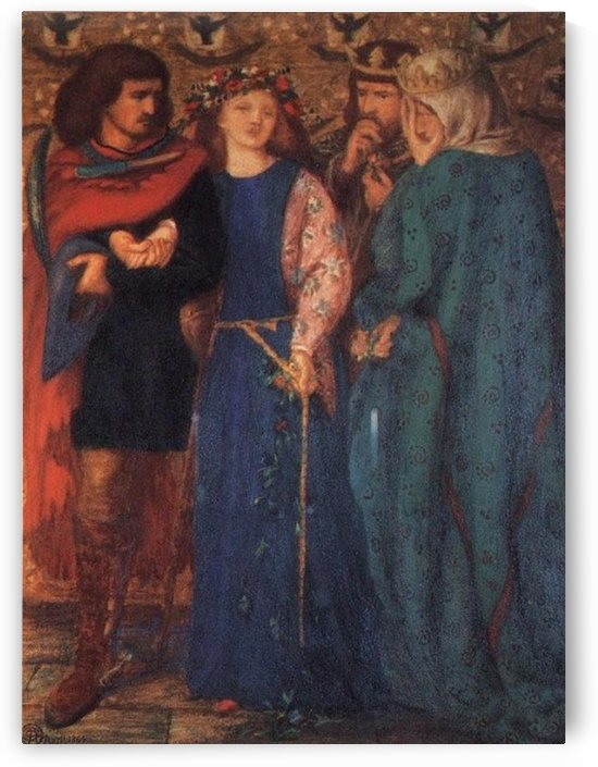 The First Madness Of Ophelia by Dante Gabriel Rossetti