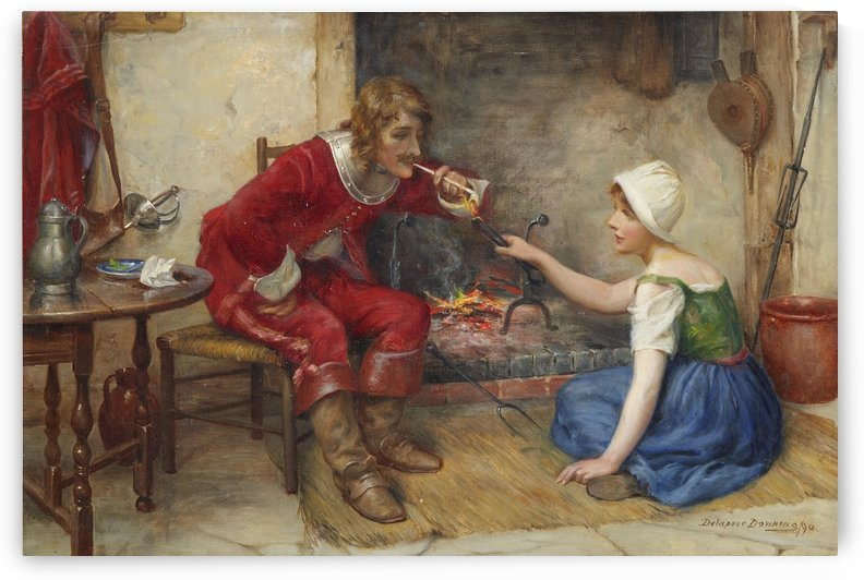 Lighting a cigarette by Delapoer Downing