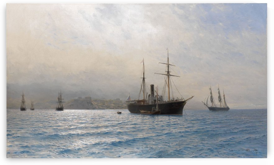 Ships on a Calm Sea by Lev Lagorio