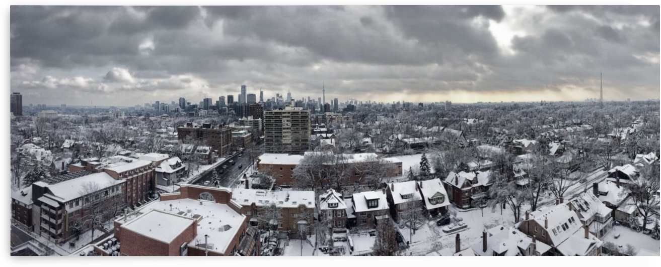 Snowy Toronto Skyline by Richard Lindzon