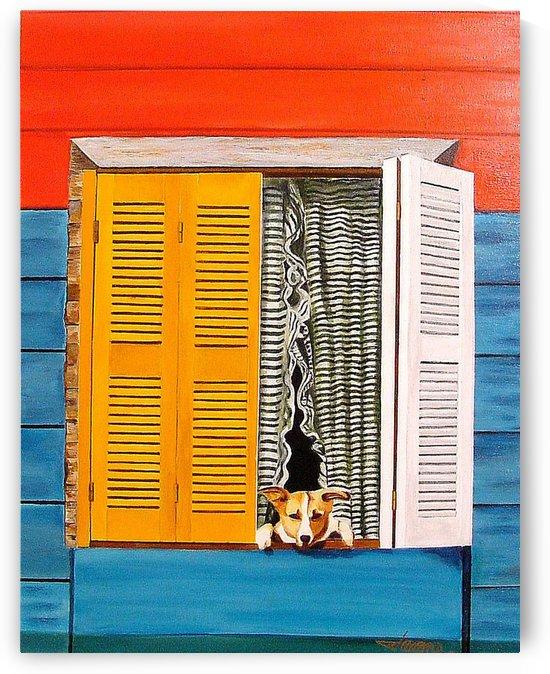 La Boca Watch Dog  by Bella Visat Artist
