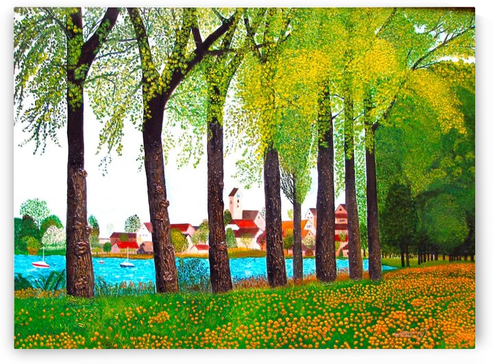 Swiss Village Spring Day by Bella Visat Artist