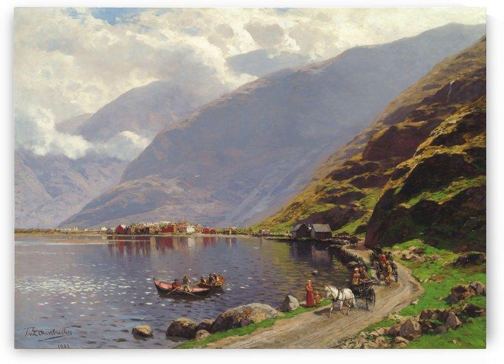 Utsikt over Laerdalsoren, i Sognefjorden, 1901 by Karl Paul Themistokles von Eckenbrecher