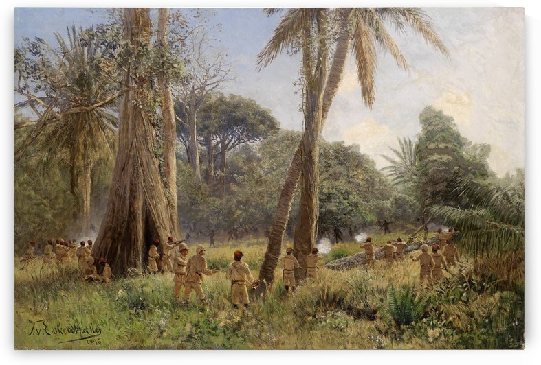 Soldaten in Afrika 1896 by Karl Paul Themistokles von Eckenbrecher