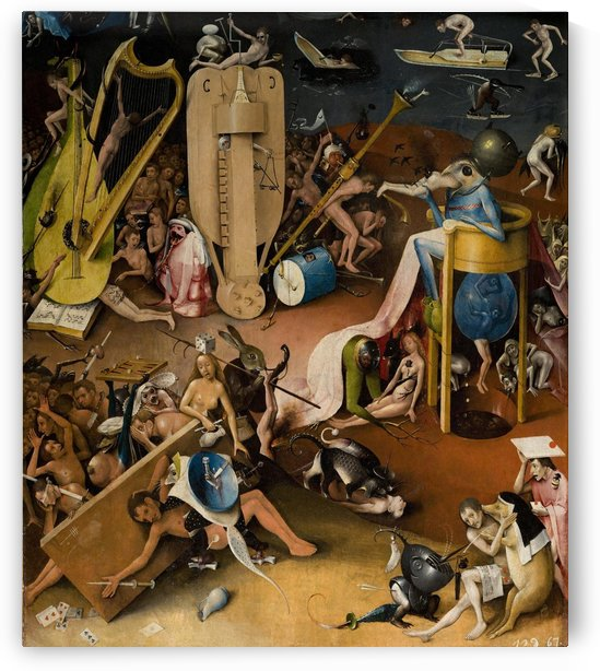 The Garden of Earthly Delights, inner right wing, detail by Hieronymus Bosch