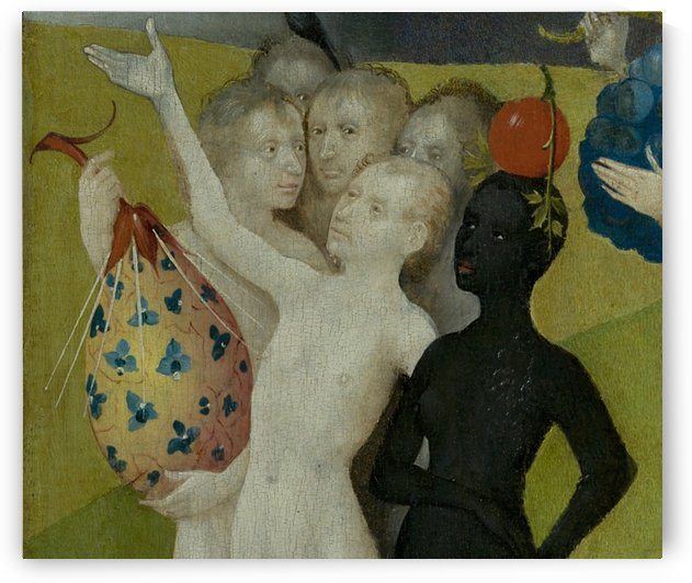 The Garden of Earthly Delights central panel Detail fictional fruit by Hieronymus Bosch