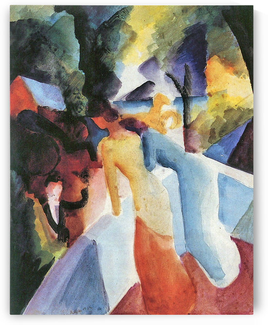 Greetings from the balcony by August Macke by August Macke