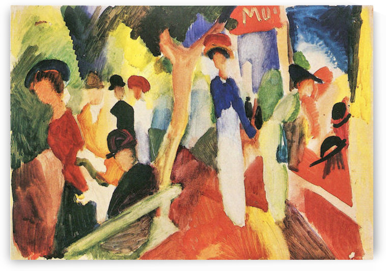 Hat shop at the promenade by August Macke by August Macke