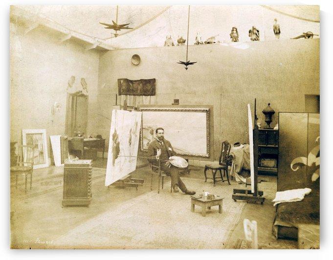 Julius Leblanc Stewart in his studio by Julius LeBlanc Stewart