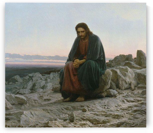 Christ dans le desert by Ivan Nikolaevich Kramskoi