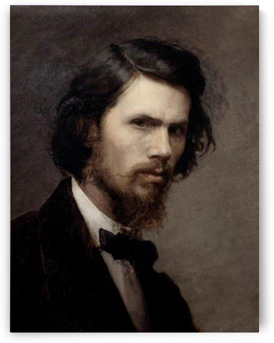 Self-portrait 1867 by Ivan Nikolaevich Kramskoi