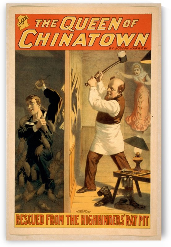 The Queen of Chinatown vintage poster by VINTAGE POSTER