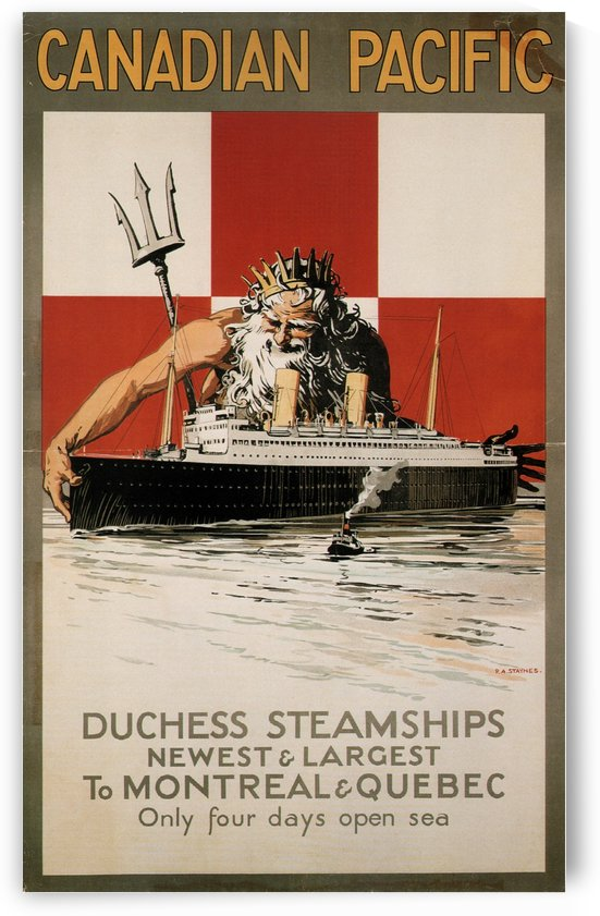 Canadian Pacific Duchess Steamships Vintage Travel Poster by VINTAGE POSTER