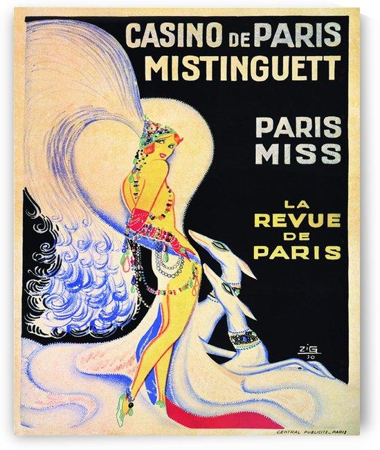 Casino De Paris Mistenguett vintage poster by VINTAGE POSTER