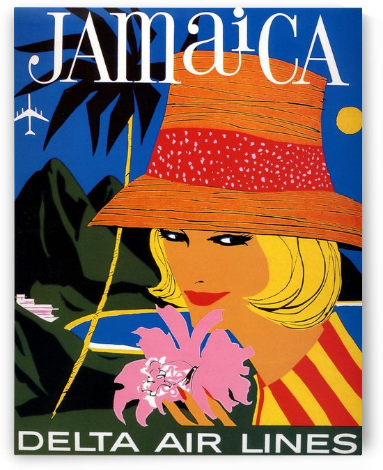 Delta Air Lines Vintage Poster for Jamaica by VINTAGE POSTER
