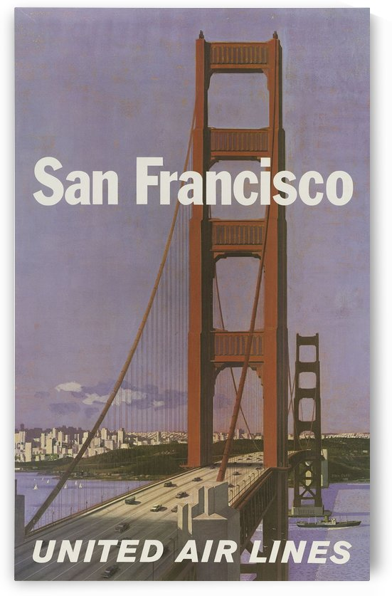 United Airlines Poster for San Francisco by VINTAGE POSTER