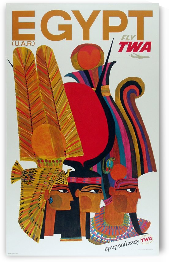 Fly TWA Egypt poster by VINTAGE POSTER
