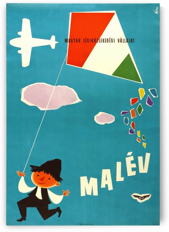 Malev Hungarian Airlines poster by VINTAGE POSTER