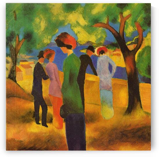 Lady in a green jacket by August Macke by August Macke
