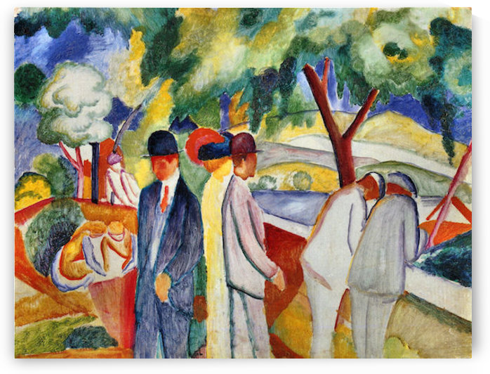 Large bright walk by August Macke by August Macke