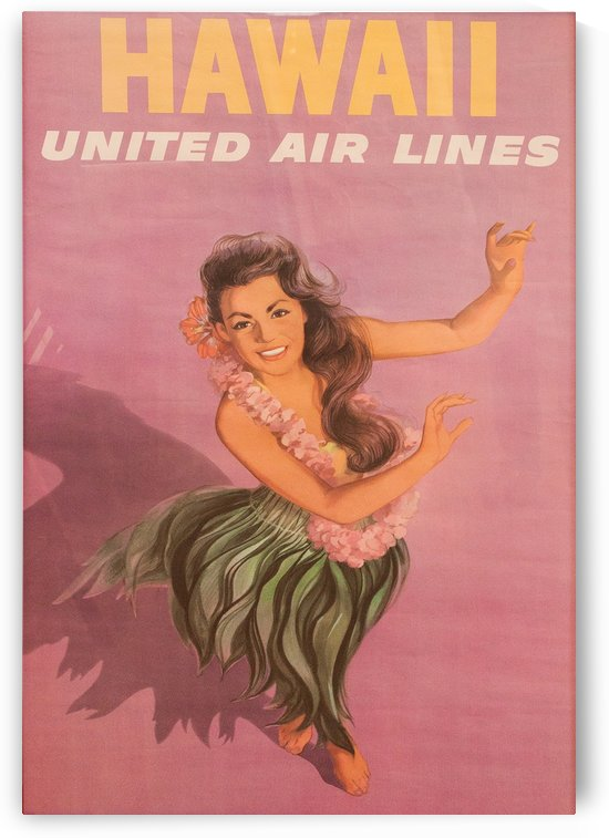 United Airlines Poster for Hawaii by VINTAGE POSTER