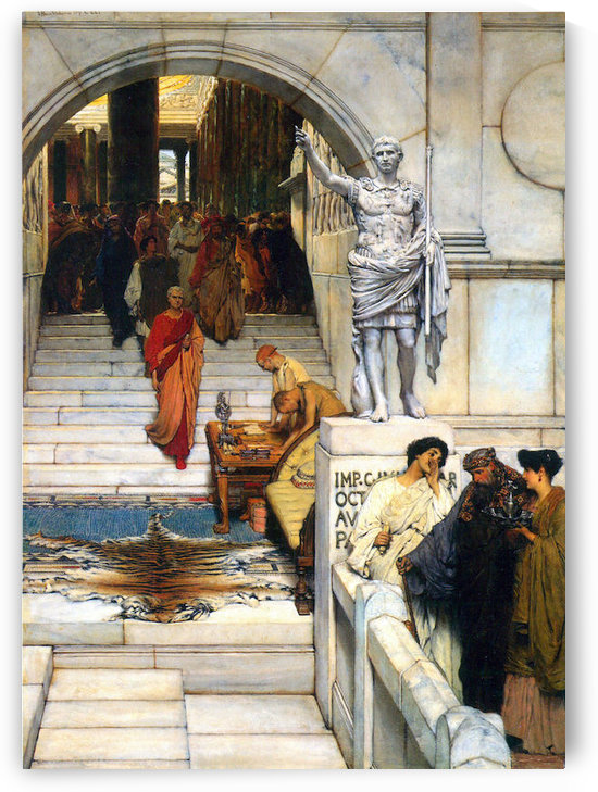 An audience with Agrippa by Alma-Tadema by Alma-Tadema