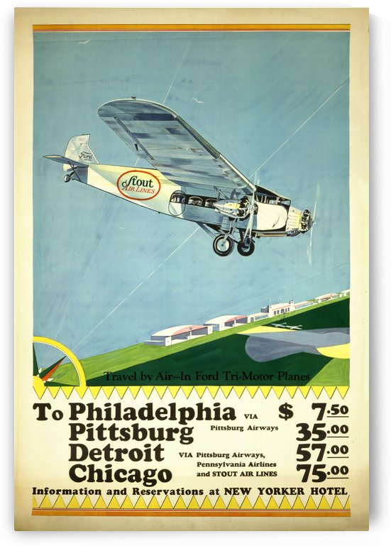 Stout Air Lines Poster by VINTAGE POSTER