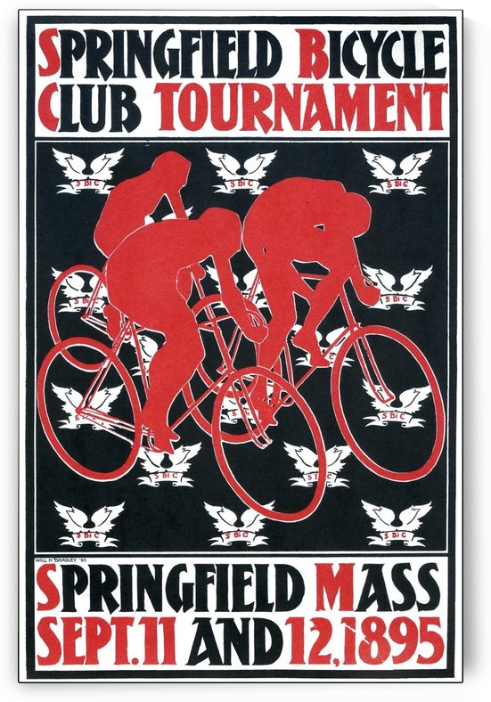 Springfield bicycle club tournament by VINTAGE POSTER