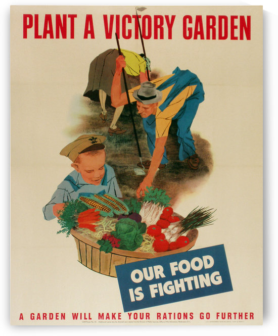 Plant a Victory Garden by VINTAGE POSTER