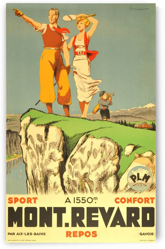 Original vintage poster from 1930 for Mont Revard in Savoie, France by VINTAGE POSTER