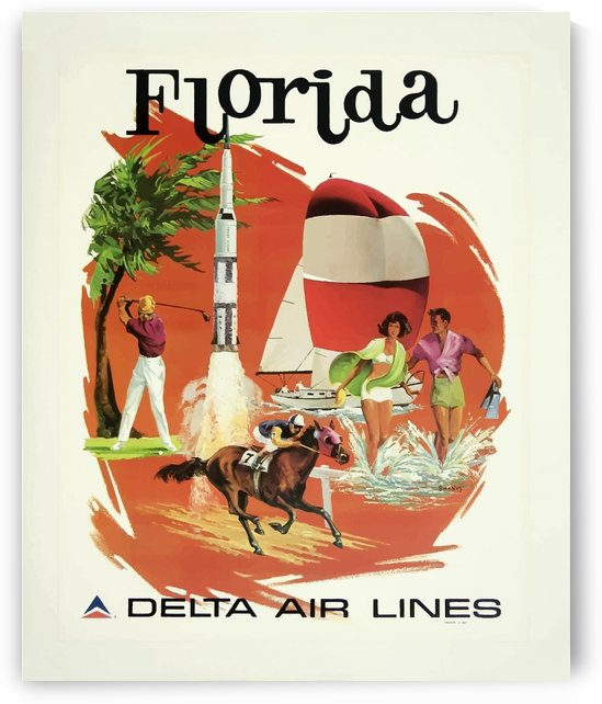 Florida by Delta Air Lines Poster by VINTAGE POSTER