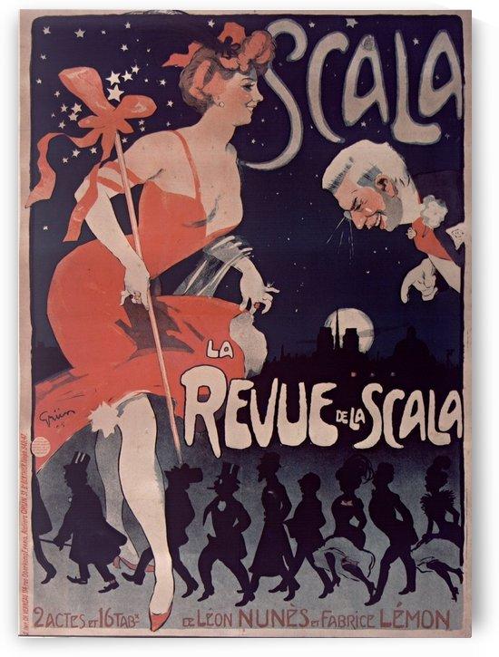 La Revue de la Scala Poster by VINTAGE POSTER