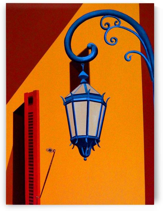 La Boca Street Lamp with Shutters by Bella Visat Artist