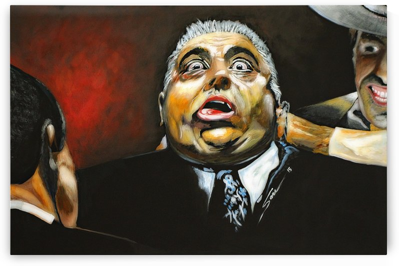 The Godfather Luca Brasi Sleeps with the Fishes by Simon Maxx Gallery