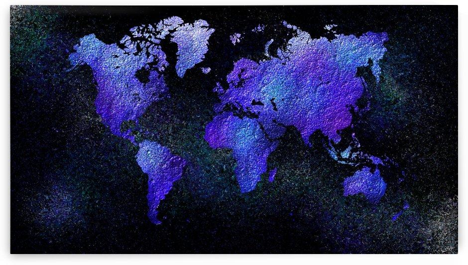 Mappodevorio V3 - abstract world map by Cersatti Art