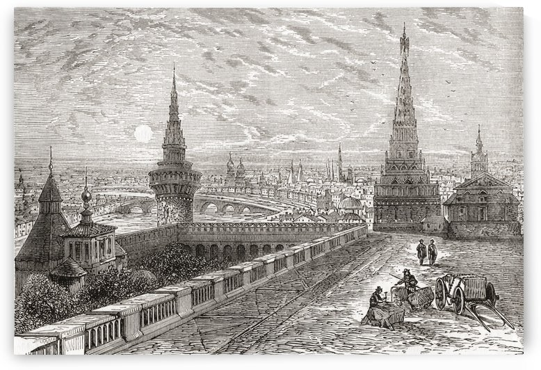 Moscow, Russia in the 19th century. From The National Encyclopaedia, published c.1890. by PacificStock
