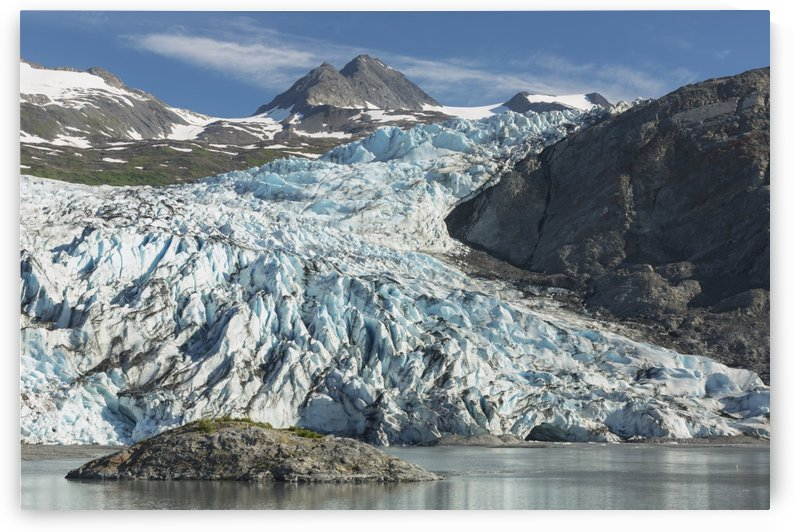 Scenic view of Shoup Glacier and Chugach Mountains, Shoup Bay State Marine Park, Prince William Sound, Valdez, Southcentral Alaska by PacificStock
