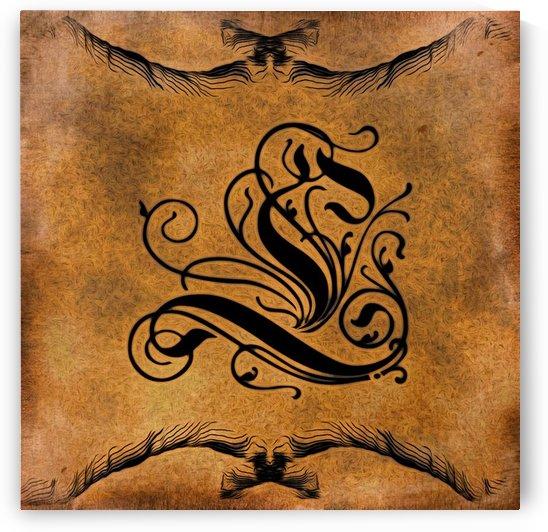 Beautiful Monogram Letter L by George Cuda