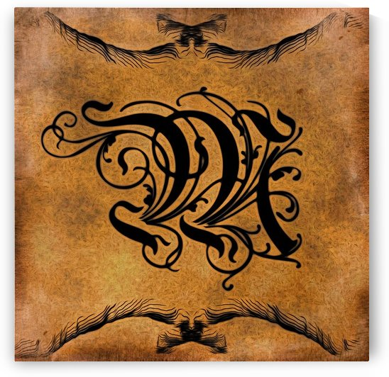 Beautiful Monogram Letter M by George Cuda