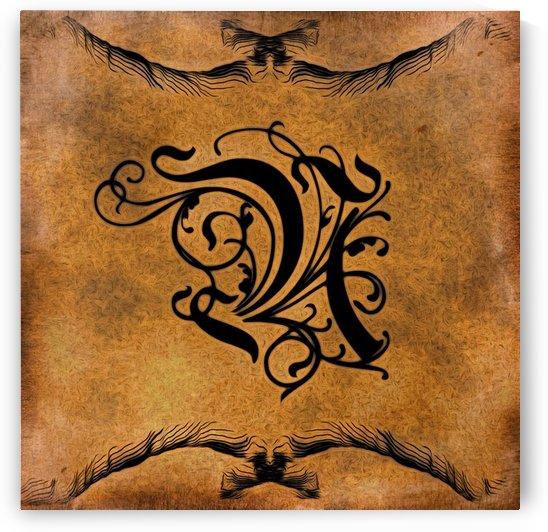 Beautiful Monogram Letter N by George Cuda