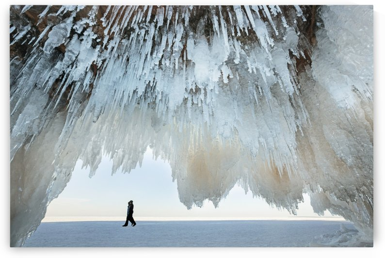 Ice caves on Lake Superior, near Bayfield; Michigan, United States of America by PacificStock