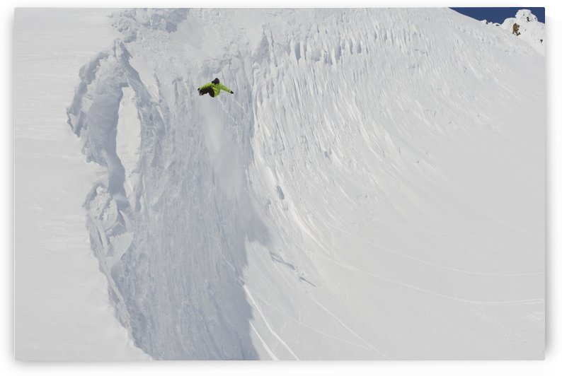 Professional snowboarder, Kevin Pearce, extreme heli boarding in the mountains above Haines, Southeast Alaska by PacificStock