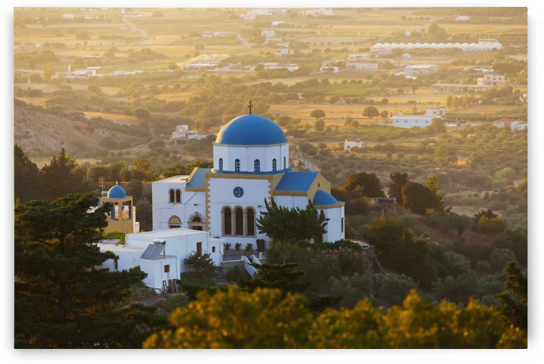 Evangelistria Church of Zia; Zia, Island of Kos, Greece by PacificStock