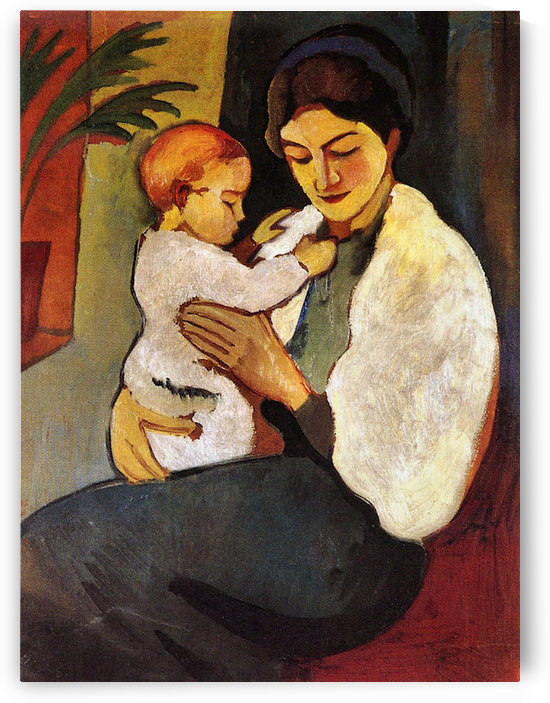 Mother and Child by August Macke by August Macke