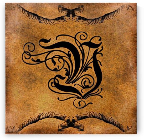 Beautiful Monogram Letter V by George Cuda