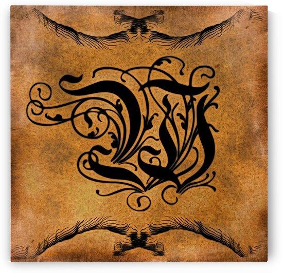 Beautiful Monogram Letter W by George Cuda