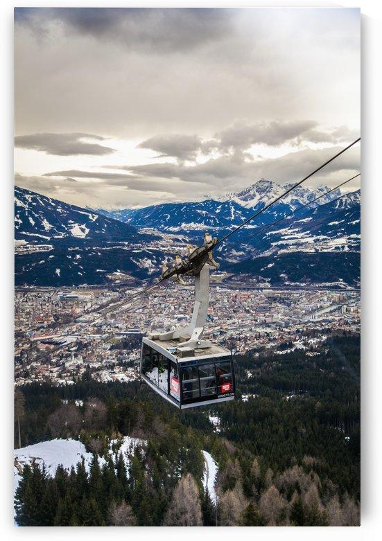 View of Alps around Innsbruck from Nordkette; Innsbruck, Tyrol, Austria by PacificStock